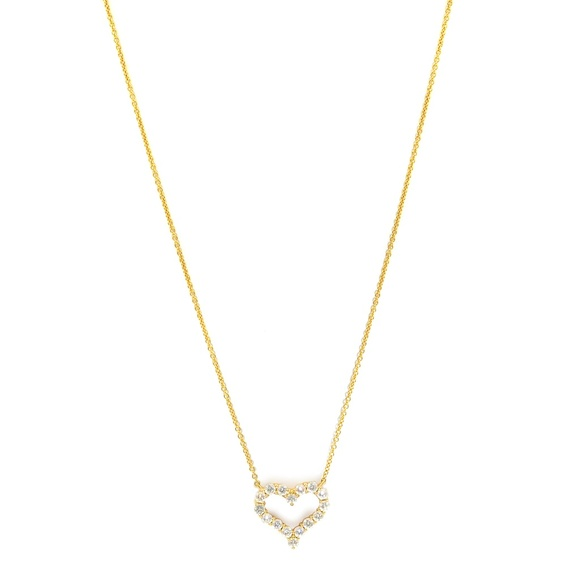 a1842e3c1 Tiffany & Co. Jewelry | 18k Rose Gold Tiffanyco Diamond Heart ...